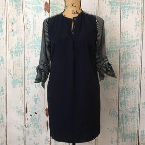LOFT XS petite polyester shirt style dress
